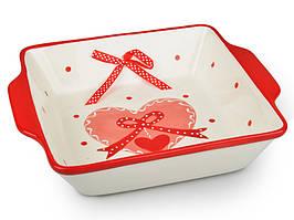 """Блюдо для запекания керамическое """"Любовь"""" 30 см 941-022. Подарок на День Влюбленных"""