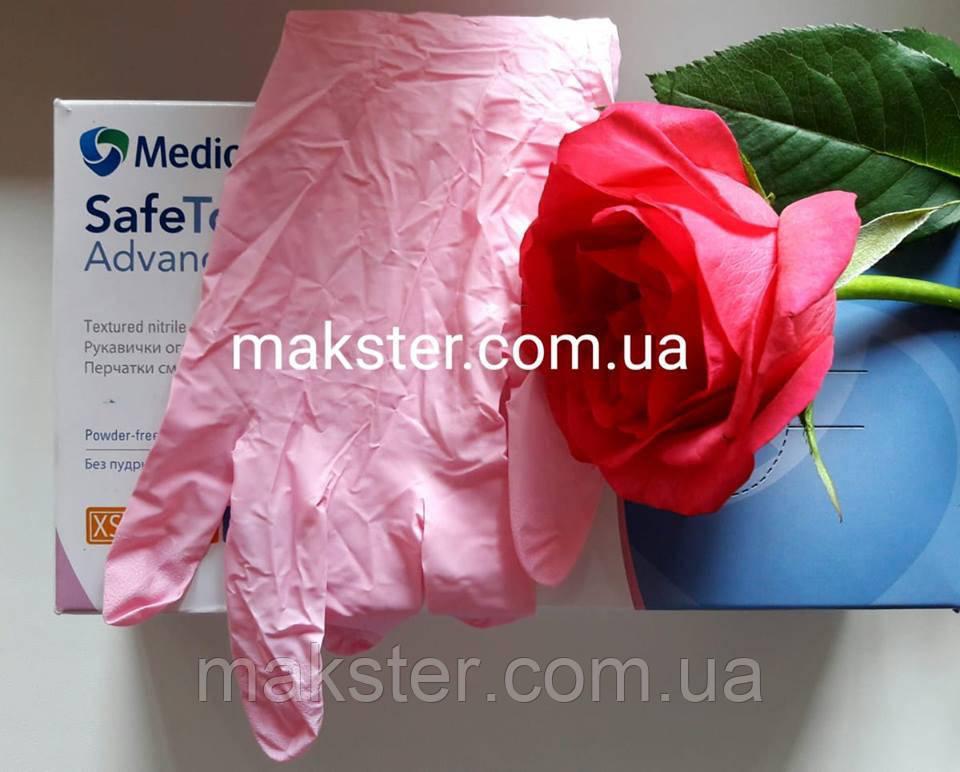 Нитриловые перчатки розовые Medicom (100 шт)