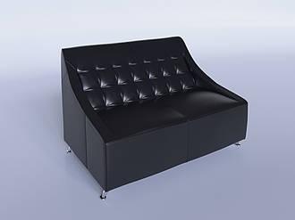 """Офісний диван """"Поліс"""" чорний"""