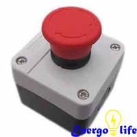 Кнопка грибок в корпусе, без фиксации, GAV 642-1