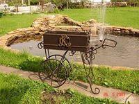 Кованый мангал с колёсами №2