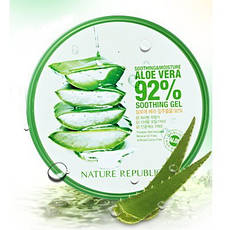 NATURE REPUBLIC Универсальный увлажняющий гель Алоэ Soothing and Moisture Aloe Vera 92% Gel 300ml