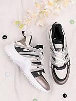 Спортивные кроссовки женские с люрексом 25814, фото 1