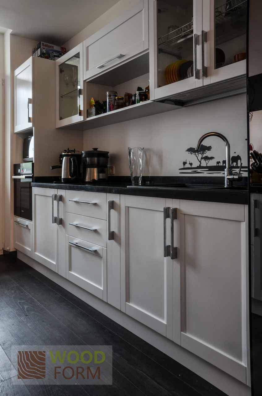 """Кухня """"Тоскана"""". Фасады массив ясень, цвет Белый"""