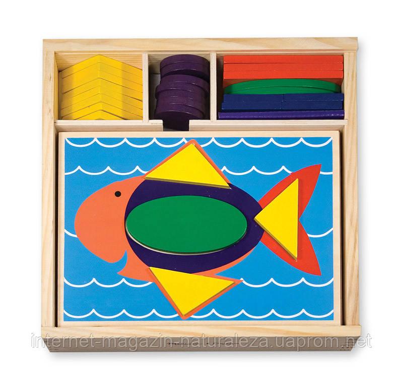 Деревянная игрушка Melissa&Doug Мозаика для начинающих