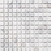 Белая глянцевая мозаика из натурального мрамора Vivacer SPT017