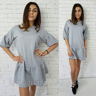 Платье-туника двунитка