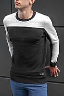 Футболка с длинным рукавом для мужчин BEZET Grey/black