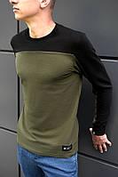 Кофта мужская с длинным рукавом BEZET Khaki/black