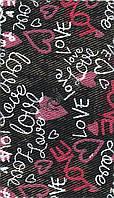 "КОТТОН с рисунком ""Love, чёрный, 2838-2"""