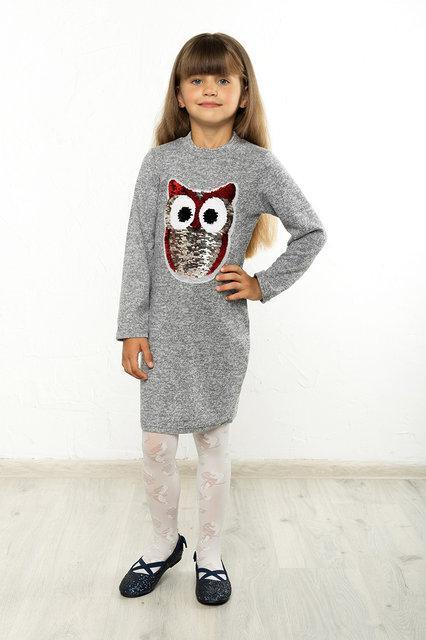 5d455cf8f2ff Платье детское Софи сова №1, (2цв), платье для девочки, детская ...