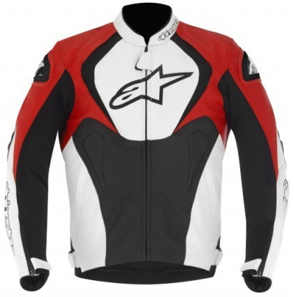 "Куртка Alpinestars JAWS кожа black\white\red ""50"""
