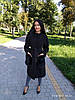 Пальто из кашемира с карманами из финского песца