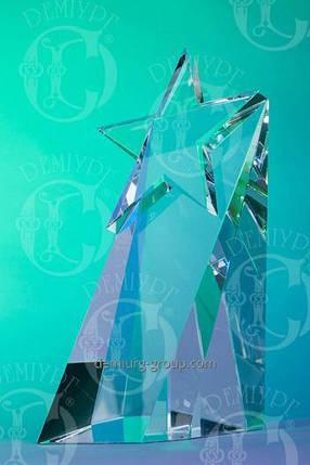 Стеклянный сувенир с изображением звезды , фото 2