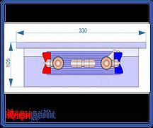 Внутрипольный конвектор Radopol KV 10 350*1000