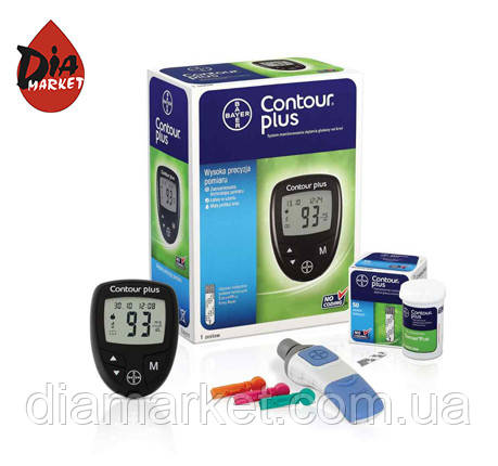 Глюкометр Contour Plus + 50 тест-полосок