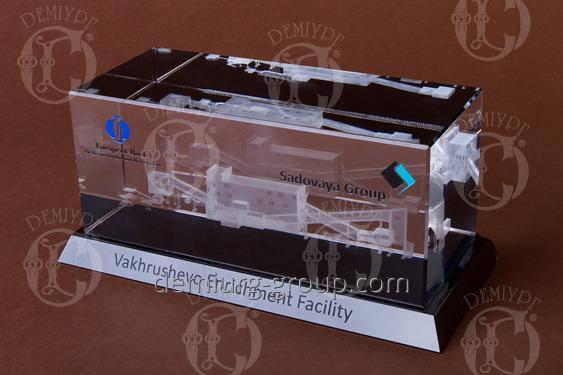 Корпоративный сувенир из стекла с 3D гравировкой, фото 2