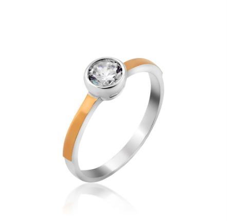 Серебряное кольцо с золотом Тея