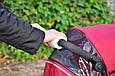 0325 Прихватки на ручку коляски на овчине, фото 2