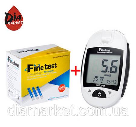 "Глюкометр Файнтест ""Finetest Auto-coding Premium"" + 25 тест-полосок +25 ланцетов"