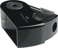 Точилка Faber-Castell Sleeve Mini с контейнером на одно отверстие черная, 182710