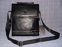 Мужская сумка Gorangd X9821-5 черная искусственная кожа, фото 1