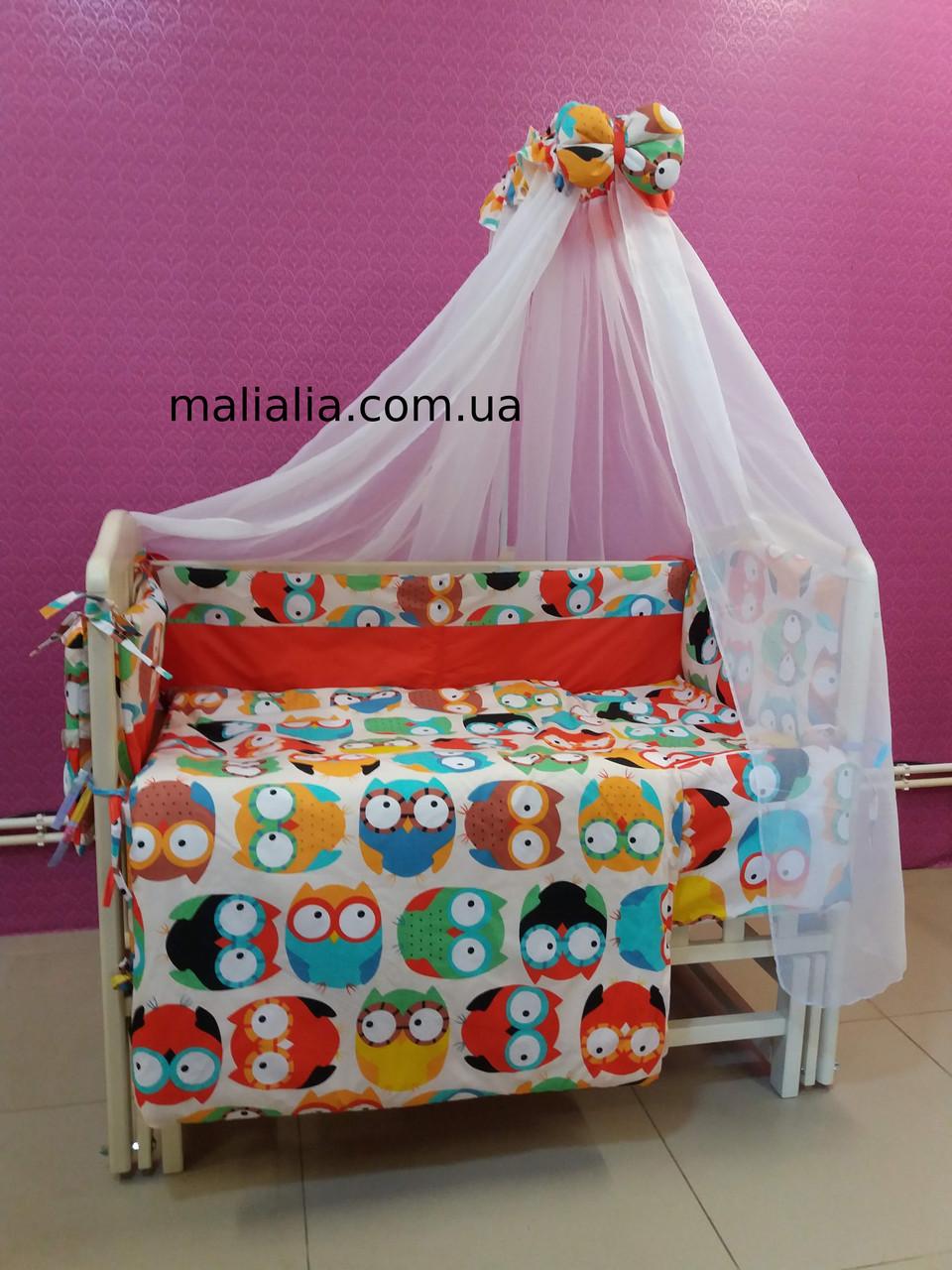 Комплект детского постельного белья Совы цветные 8 ед Bepino