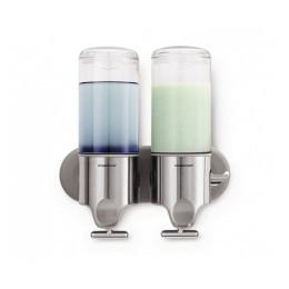 BT1028 Дозатор жидкого мыла двойной 2*0,444 л