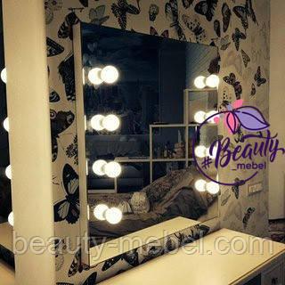 Зеркало с подсветкой по бокам и без рамки