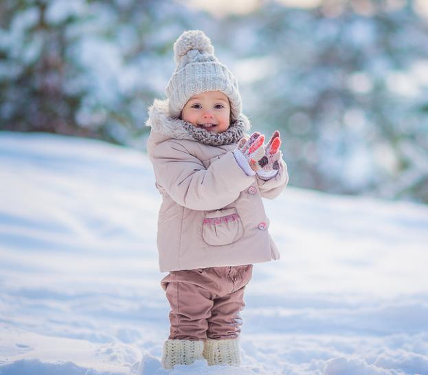 зимние детские перчатки