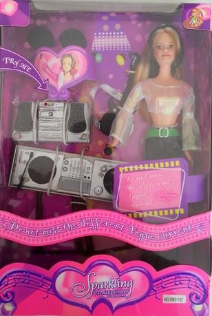 Кукла типа Барби 61-182 Диджей микрофон, гитара