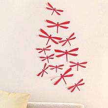 Бабки 3D на стіну червоні - в наборі 12шт., є 2-х сторонній скотч