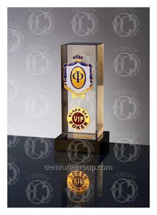 """""""VIP"""" - сувенир из стекла с металлическими накладками, фото 2"""