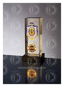 """""""VIP"""" - сувенир из стекла с металлическими накладками"""