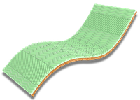 Ортопедический мини-матрасTake & GO Bamboo Green Kokos