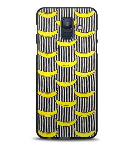 Силиконовый бампер чехол для Samsung A600f Galaxy A6-2018 с картинкой Бананы