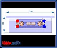 Внутрипольный конвектор Radopol KV 10 350*2750