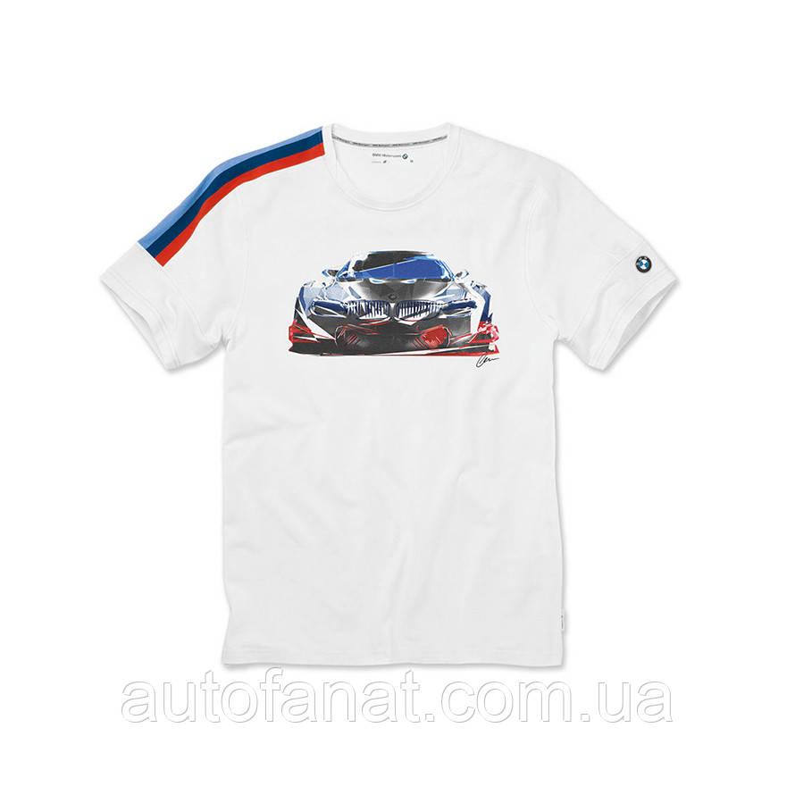Оригинальная мужская футболка BMW Motorsport Motion T-Shirt, Men, White (80142446421)
