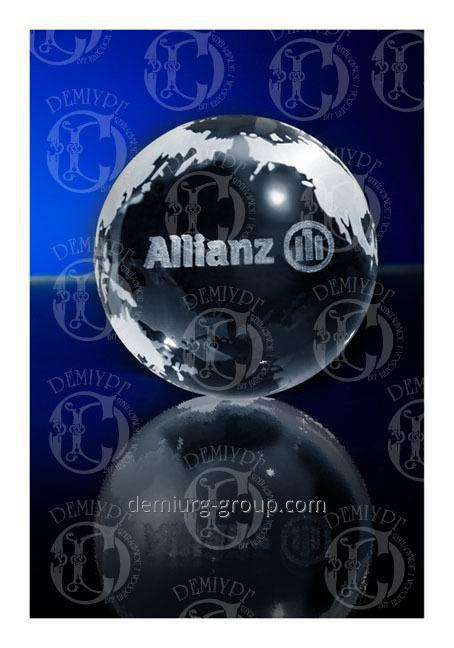 "Стеклянный сувенир-шар ""ALLIANZ"""