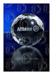 "Стеклянный сувенир -шар ""ALLIANZ"""