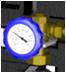 """Трехходовой смесительный клапан 3/4"""" НР * 1 1/2"""" ВР, с термометром"""