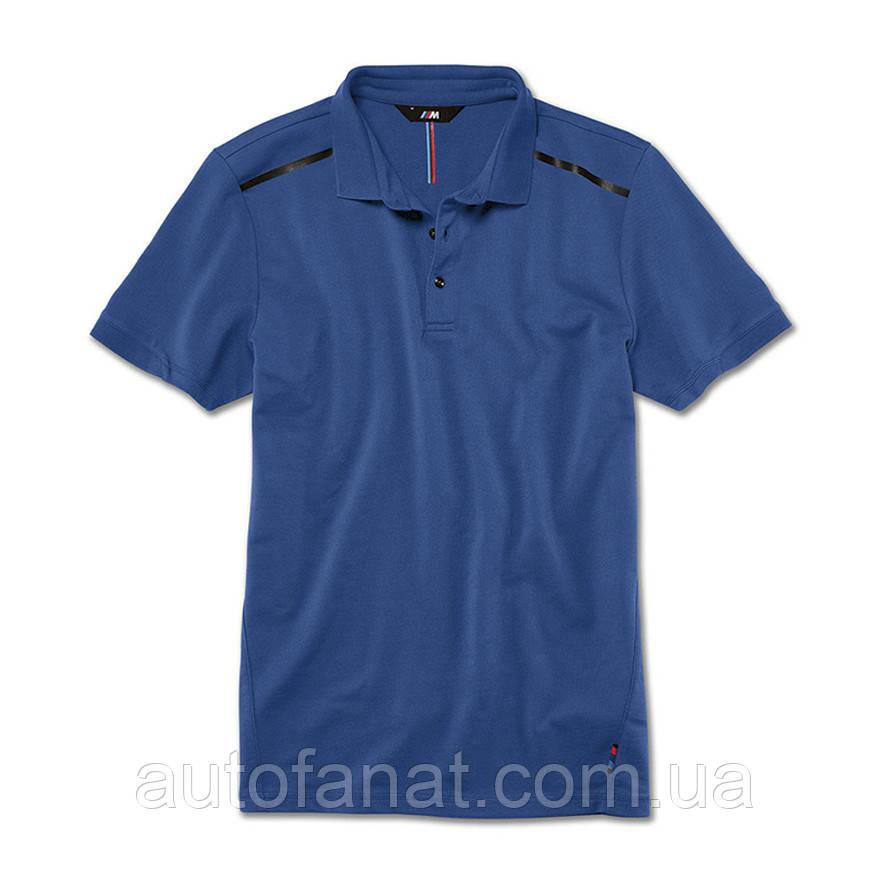 Мужская рубашка-поло BMW M Polo Shirt, Men, Marina Bay Blue (80142450975)