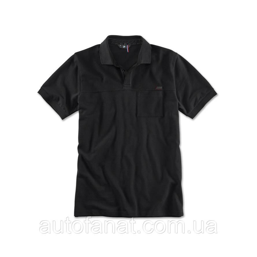 Оригинальная мужская рубашка поло BMW M Polo Shirt, Men, Black (80142410888)