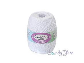 Хлопок 100% Candy-Yarn,  Белый №100