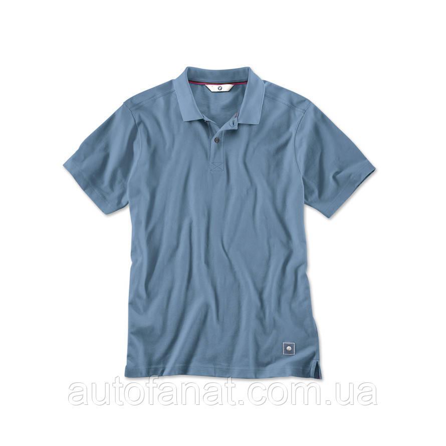 Мужская рубашка-поло BMW Polo Shirt, Men, Steel Blue (80142411082)
