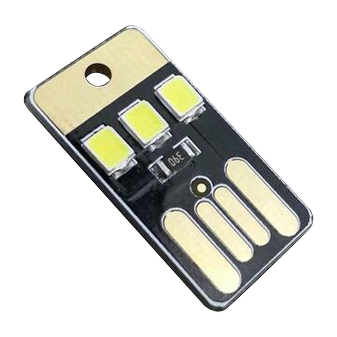 USB LED mini світильник 3 діоди, колір чорний