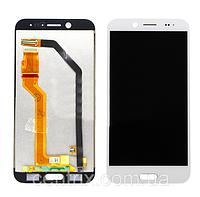 Дисплей (экран) для HTC 10 Evo (M10f) + тачскрин, цвет белый, оригинал