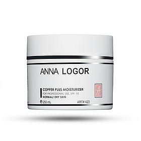 Анти–оксидантний, зволожуючий крем Anna Logor Copper Plus Moisturizer 250 мл Код 423