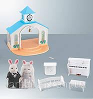 Животные флоксовые домик 012-09 Свадебная церемония Happy Family