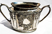 Шикарная антикварная сахарница! Серебрение! ХIХ век Франция!, фото 1